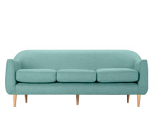 Tubby 3 Seater Sofa, Pacific Blue
