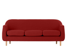 Tubby 3 Seater Sofa, Postbox Red