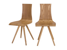 2 x Devlin Dining Chairs, Natural Ash