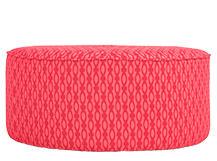 Lulu Medium Pouffe, Raspberry and Coral