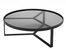 Aula Coffee Table, Black and Grey