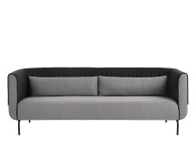 Bienno 3 Seater Sofa, Kestrel and Whisper Grey Wool Mix