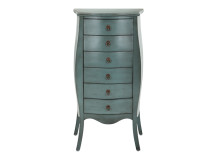 Bourbon Tallboy Chest Of Drawers, Azure Blue