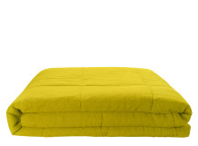 Brisa 100% Linen Soft Washed Bedspread 220 x 225cm, Chartreuse
