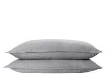Brisa 2 x 100% Soft Washed Linen Pillowcases, Steel