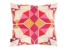 Crystal Square Scatter Cushion 45 x 45cm, Jasper Red