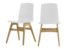 2 x Dante Dining Chair, Oak and White