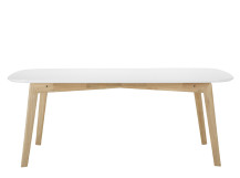 Dante Dining Table, Oak and White