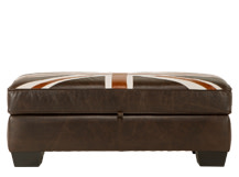 Edward Jack Storage Footstool, Vintage Brown