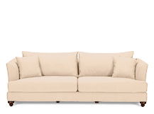 Elliott Grande 4 Seater Sofa, Parchment Beige Cotton Mix