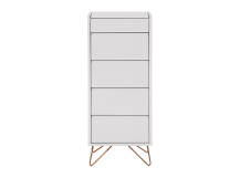 Elona vanity chest of drawers, grey and copper