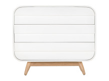 Esme Chest of Drawers, White and Ash