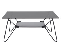 Fass Coffee Table, Black and Grey