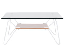 Fass Coffee Table, White and Ash