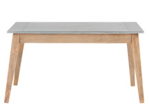 Fawn Dining Table, Zinc