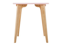 Fjord Compact Dining Table, Oak and Blush Pink