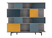 Fowler Large Shelving Unit, Multicolours