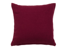 Harbor Textured Cotton Cushion 45 x 45cm, Ruby Red