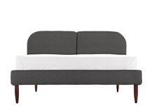 Hattan Double Size Bed, Falcon Grey