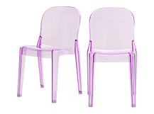 2 x Jelly Acrylic Chairs, Pink