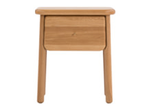 Jonah Small Bedside Table, Oak and Brass