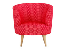Lulu Scoop Chair, Raspberry and Coral