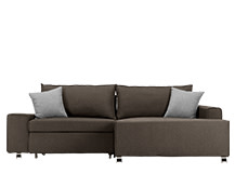 Mayne Right Hand Facing Corner Sofa Bed, Dark Grey