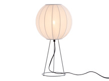 Mist Table Lamp, Cool Grey and White