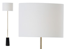Rita Floor Lamp, Brass and Marble