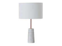 Rita Table Lamp, Copper and Marble