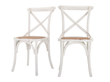 2 x Rochelle Dining Chairs. White