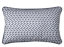 Sanremo Embroidered Cushion 30 x 45cm, Blue and Grey