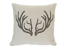 Antlers Large Scatter Cushion 50 x 50cm, Silver