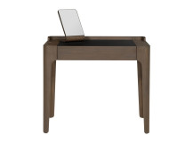 Zeke dressing table and mirror, walnut and black