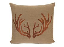 Antlers Large Scatter Cushion 50 x 50cm, Bronze