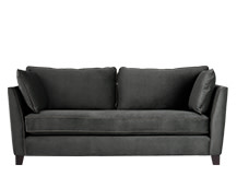 Wolseley 3 Seater Sofa, Smoke Grey Velvet