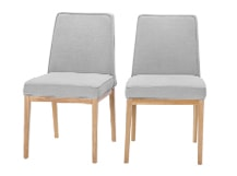 2 x Aveiro Dining Chairs, Oak and Persian Grey