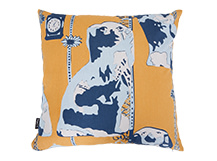 Spaniel Square Scatter Cushion 45 x 45cm, Ochre Yellow