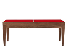 Dorig Storage Coffee Table, Dark Stain Ash and Red