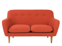 Dylan 2 Seater Sofa, Retro Orange