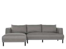 Bowery Left Hand Facing Chaise, Fossil Grey