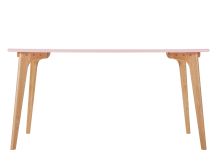 Fjord Rectangle Dining Table, Oak and Blush Pink