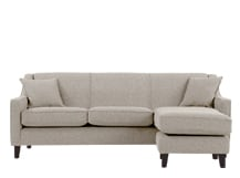 Halston Large Corner Sofa, Pebble Weave