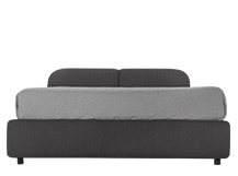 Hattan Kingsize Bed With Storage, Falcon Grey