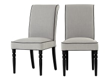2 x Hoverton Dining Chairs, Fog Grey