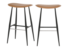 2 x Hunt Barstools, Tan
