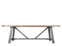 Iona Dining Table, Solid Pine and Grey