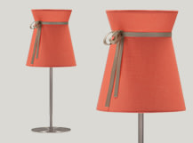 Madame Table Lamp, Peach and Taupe