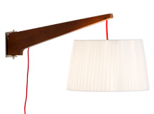 Miller Wall Lamp, Walnut and Red