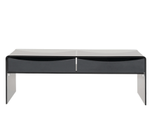 Phane Coffee Table, Smoked Grey Glass